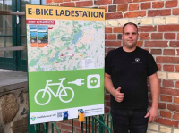 E-Bike Ladestation am Farmer Steakhouse
